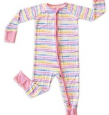 Little Sleepies Convertible Romper/Sleeper Sunrise Stripe