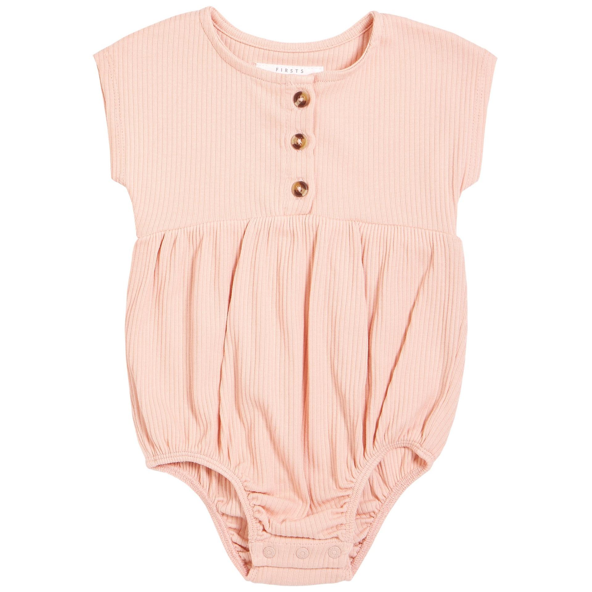Petit Lem Baby Bubble Romper Knit - Light Pink