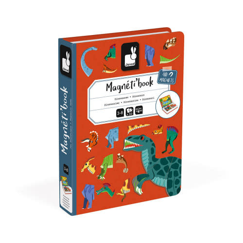 Janod Magnet Book, Dinosaurs