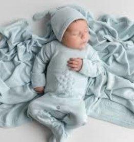 Loved Baby Velveteen Graphic Footie Moonbeam 3-6M + Hat