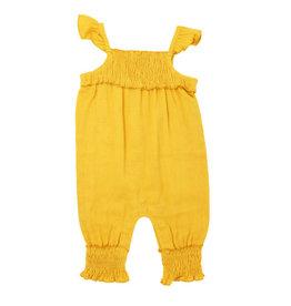 Loved Baby Organic Kids' Muslin Sleeveless Romper Saffron