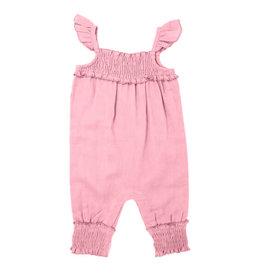 Loved Baby Organic Kids' Muslin Sleeveless Romper Peony
