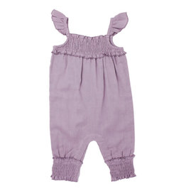 Loved Baby Organic Kids' Muslin Sleeveless Romper Amethyst