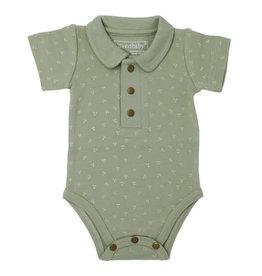 Loved Baby Polo Bodysuit Fern Dots