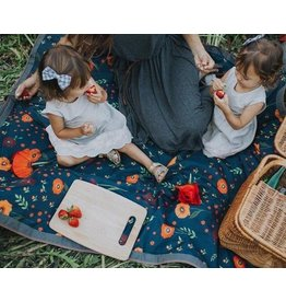 Little Unicorn Outdoor Blanket - Midnight Poppy
