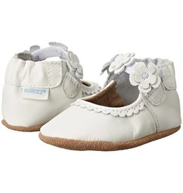 Robeez Claire Mary Jane White Soft Sole Shoe Moccasin