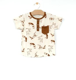 City Mouse Jersey Henley Pocket Tee Dogs