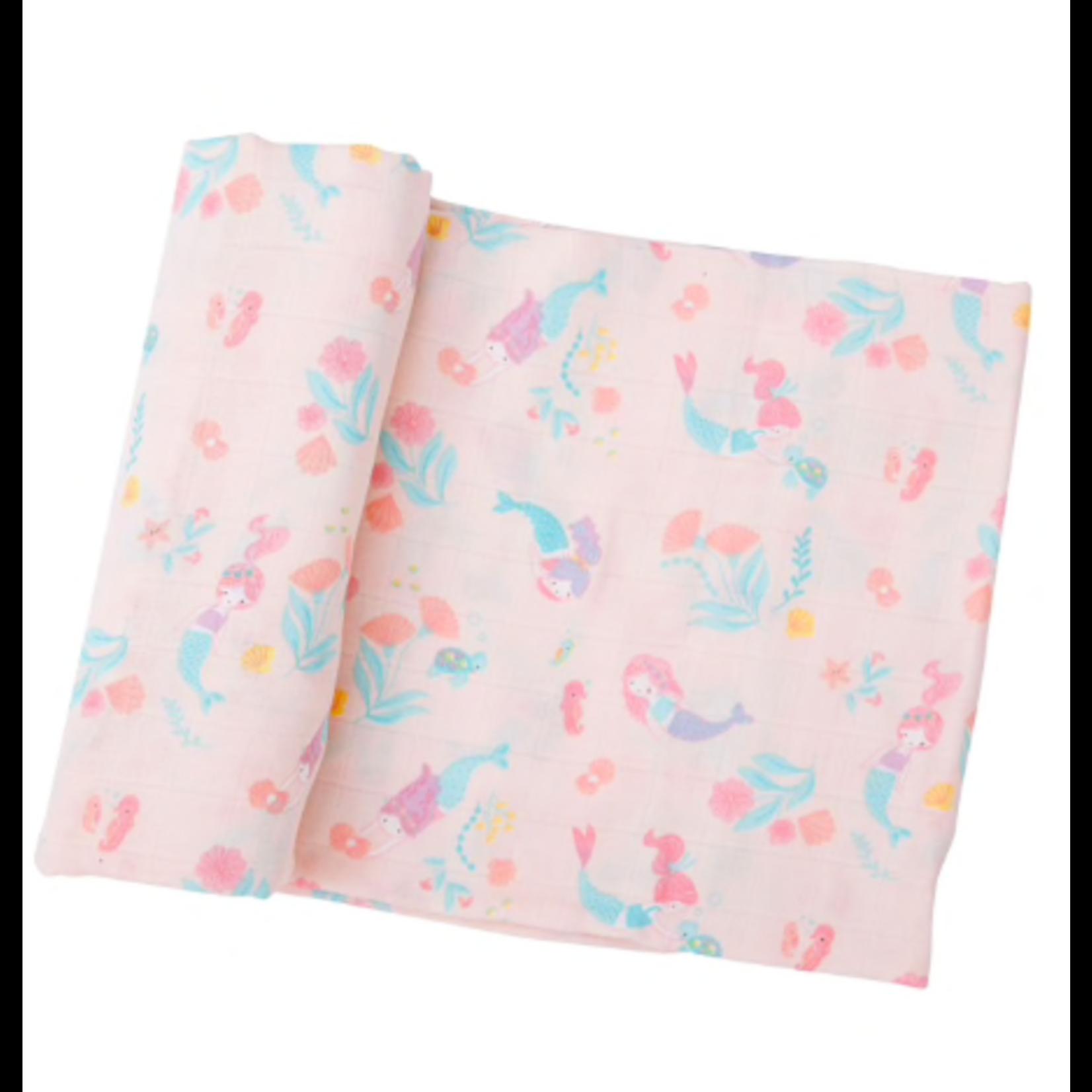 Angel Dear Mermaids Swaddle Blanket Pink (47 x 47)