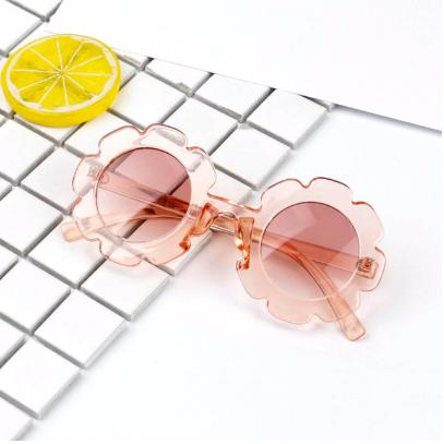 Rainbow Unicorn Birthday Surprise Flower Sunglasses - Clear Pink
