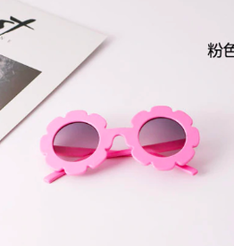 Rainbow Unicorn Birthday Surprise Flower Sunglasses - Hot Pink