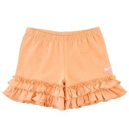 RuffleButts Melon Flowy Ruffle Shorts