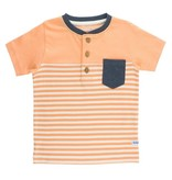 RuggedButts Melon Stripe Color Block Henley