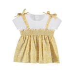 Mayoral Baby Girl Short Sleeve Mustard Top