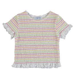 Mayoral Girls Short Sleeved Stripe Tee