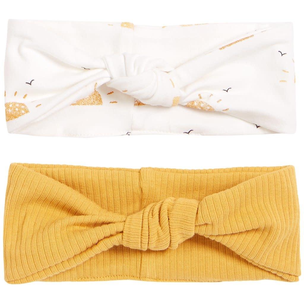 Petit Lem Baby 2 Pack Headbands Knit - Sunshine Gold