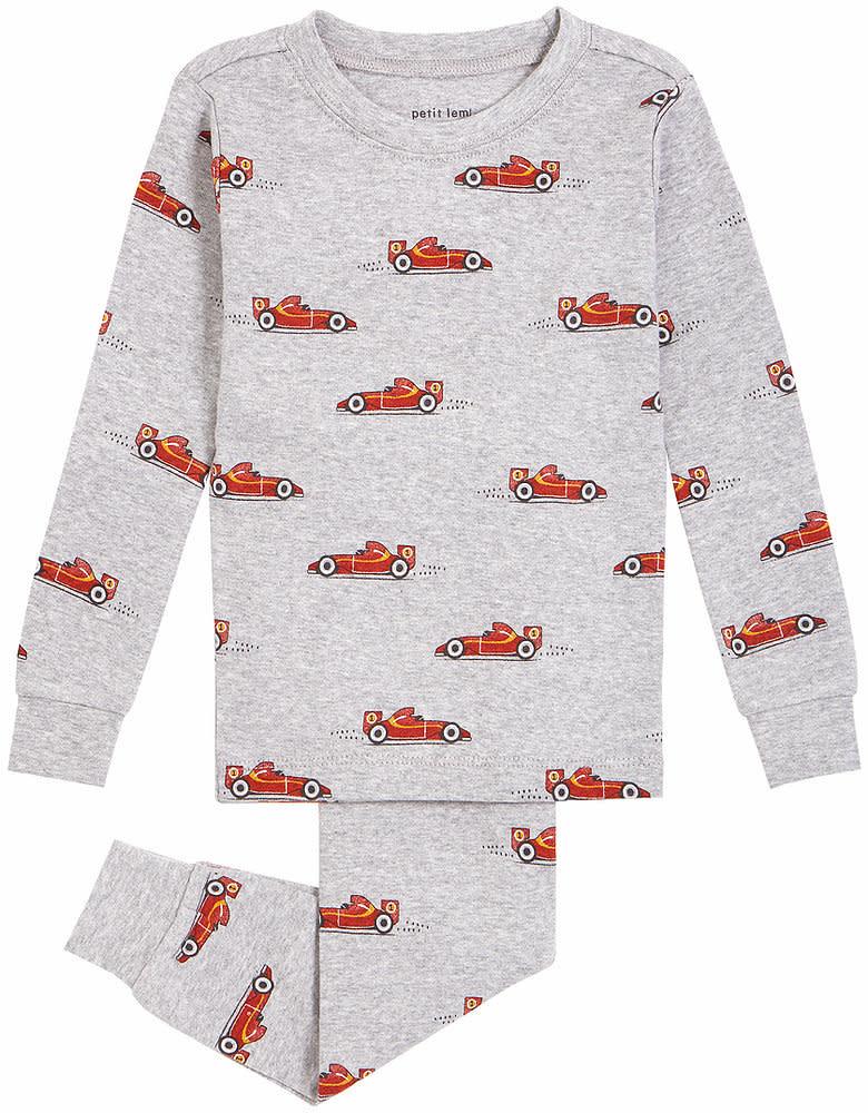 Petit Lem 2 Piece Pajama Set - Race Cars