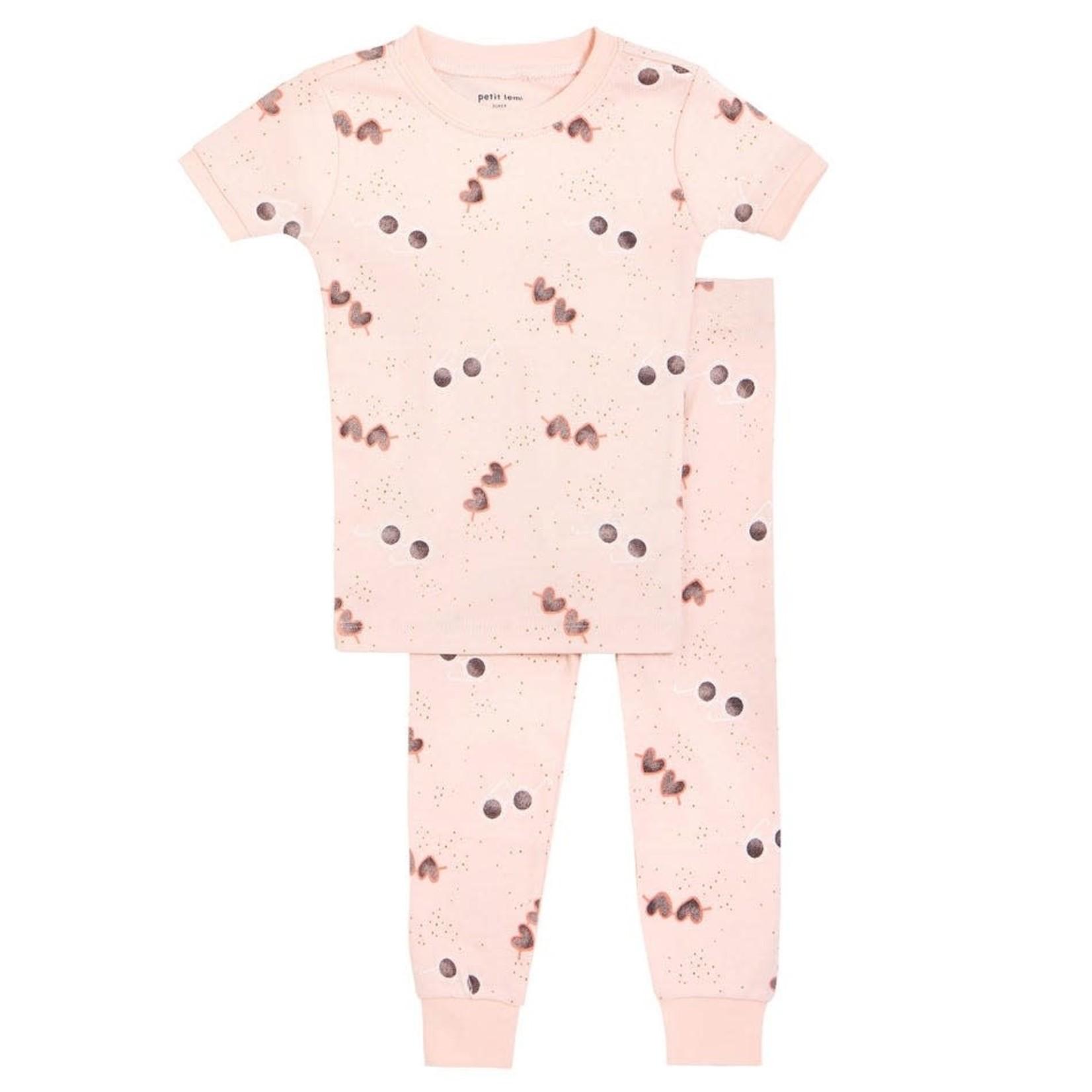 Petit Lem Girl 2 Pice Pajama Set - Sunglasses