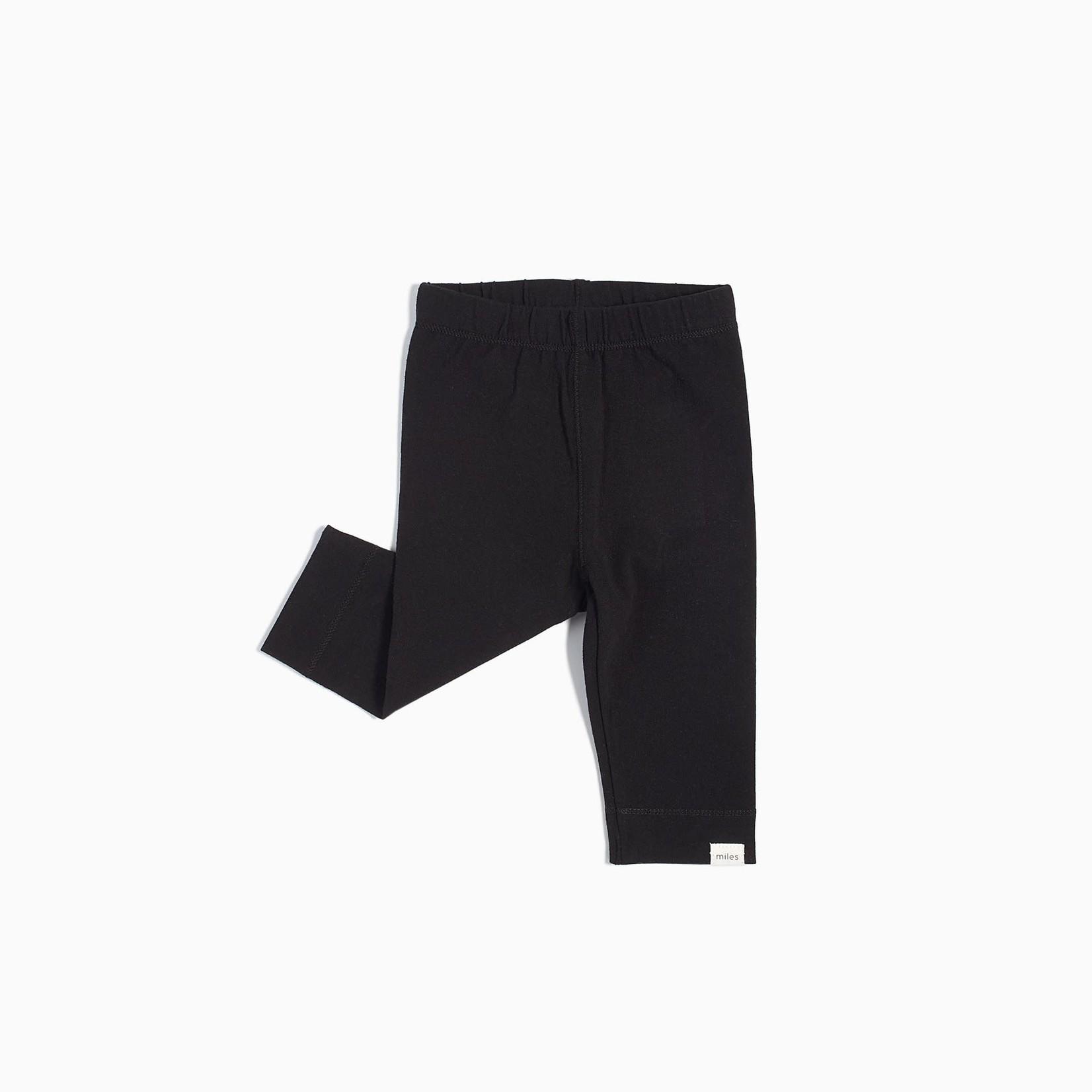 Miles Baby Baby Leggings Knit - Black
