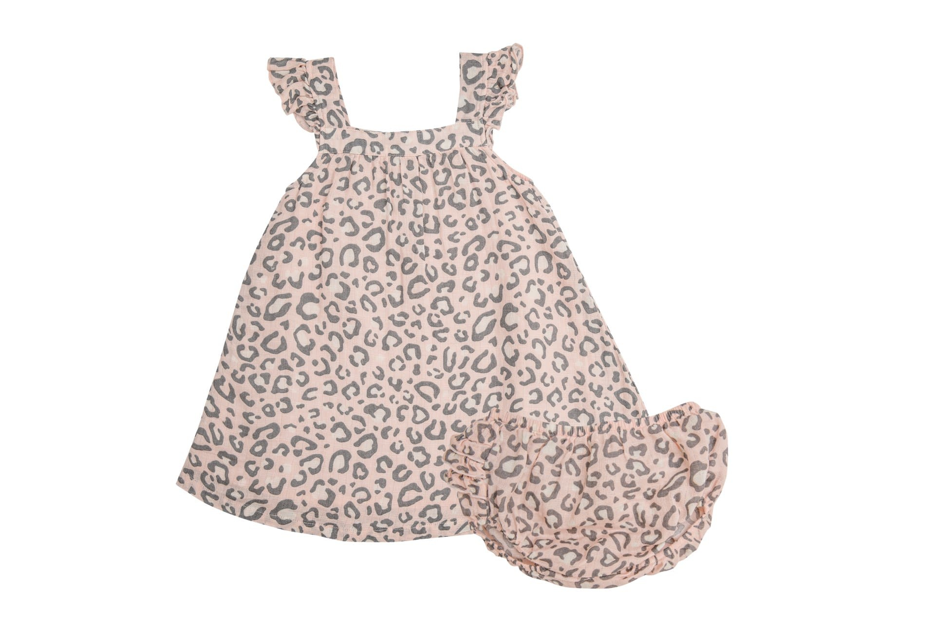 Angel Dear Leopard  Sundress/Diaper Cover Pink