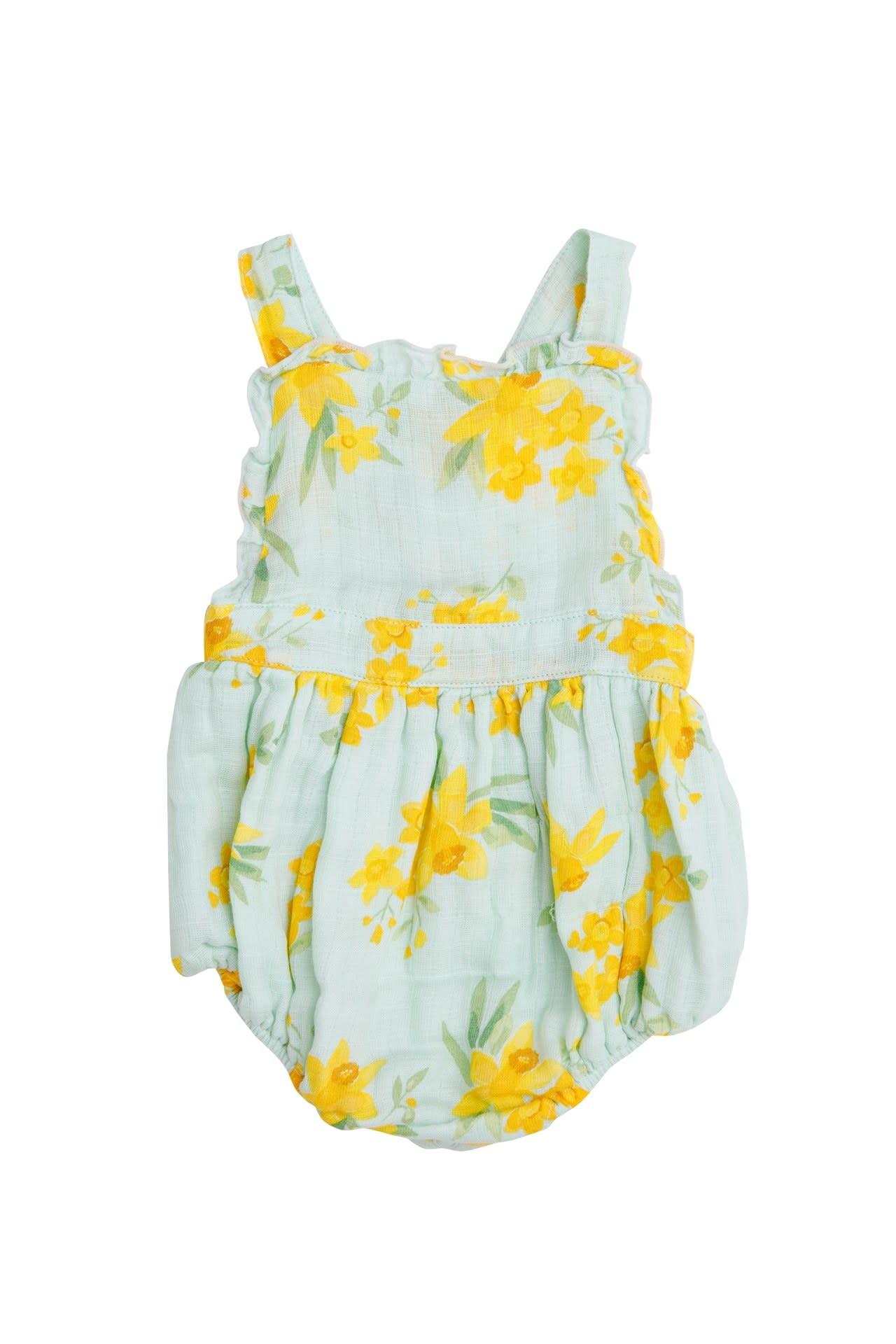 Angel Dear Daffodils Ruffle Bib Bubble Mint