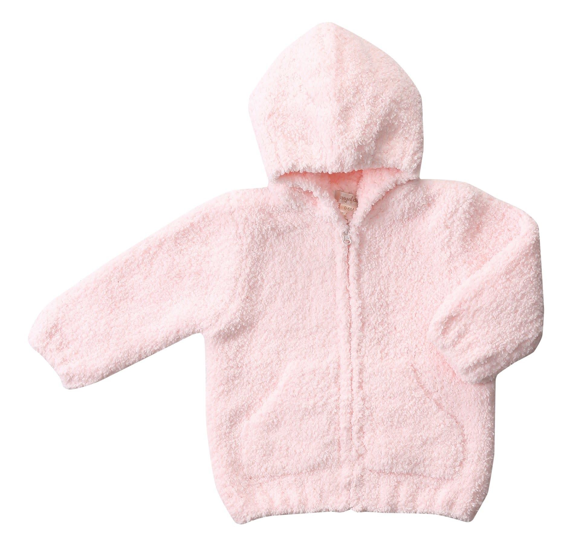 Angel Dear Chenille Hoodie - Pink