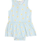 Angel Dear Gingham Daisy Bodysuit with Skirt Lt. Green