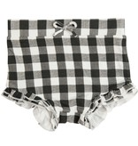 Angel Dear Gingham High Waist Shorts Black