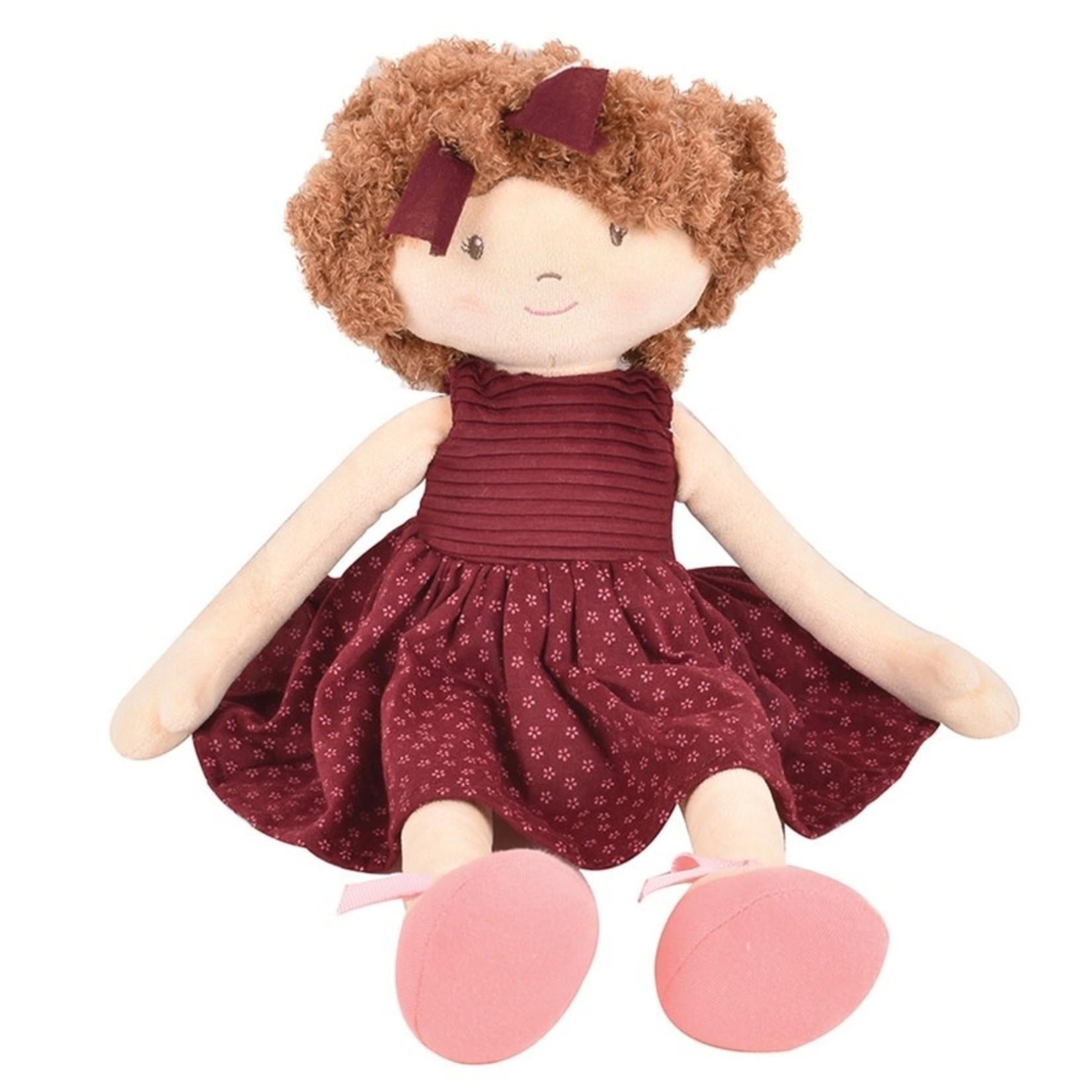 Tikiri Toys Lola - Brown Hair with Maroon Dress