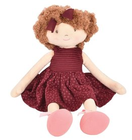 Tikiri Toys Lola - Brown Hair with Maroon Dress