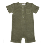 Miles Baby Baby Terry Romper - Green
