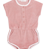 Miles Baby Baby Girl Terry Romper - Coral