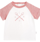 Miles Baby Baby Girl S/S Tee - Coral  Camp