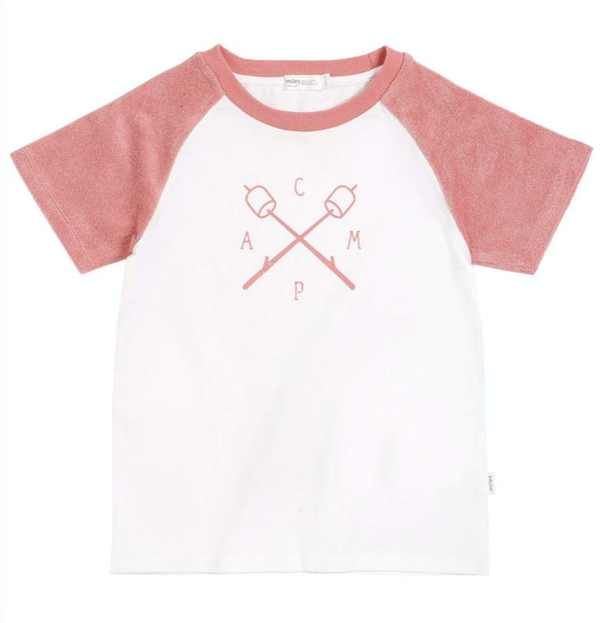 Miles Baby Girl Short Sleeve Tee - Coral Camp