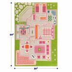 "IVI Play House Green 3D Play Carpet, Medium 39"" x 59"""