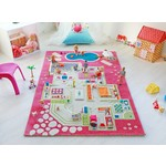 "IVI Play House Pink 3D Play Carpet, Medium 39"" x 59"""