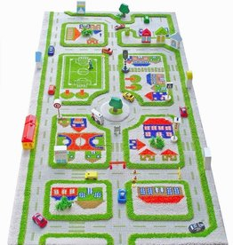 "IVI Traffic Green 3D Play Carpet, Medium 39"" x 59"""