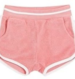 Miles Baby Girl Terry Shorts - Coral