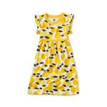 Tea Collection Wrap Neck Dress - Algarve Citrus