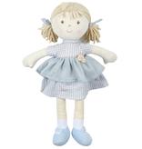 Tikiri Toys Neva Doll Blonde Hair With Grey Checkered Dress All Natural
