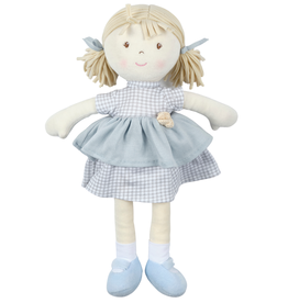 Tikiri Toys Neva Doll Blonde Hair With Grey Checkered Dress All Natural