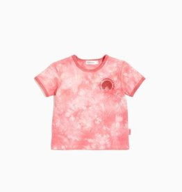 Miles Baby Girls S/S Knit Top - Tie-Dye Coral