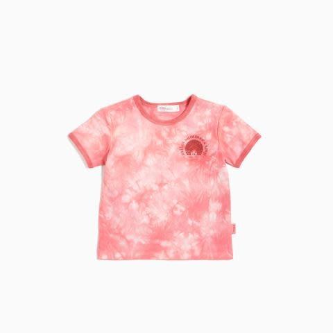 Miles Baby Baby Girl Tie-Dye Tee - Coral