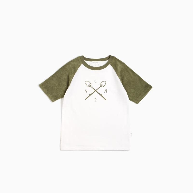 Miles Baby Kids Short Sleeve Tee - Green Camp