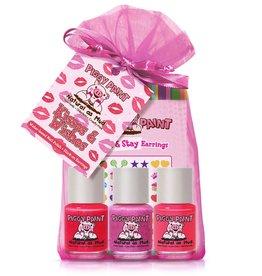 Piggy Paint Set, Kisses + Wishes (stickers + 3)