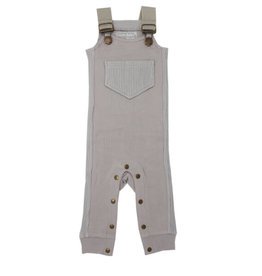 Loved Baby Footless Ribbed Overall Light Gray