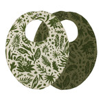 Loved Baby Printed Reversible Bib Size One Size in Get Clover It!
