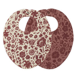 Loved Baby Printed Reversible Bib Size One Size in What In Carnation?