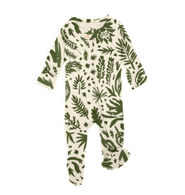 Loved Baby Printed S/Sleeve Romper Size in Get Clover It! (Beige)
