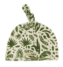 Loved Baby Printed Top-Knot Hat in Get Clover It! (Beige)