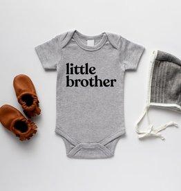 Gladfolk Little Brother Baby Bodysuit - Grey